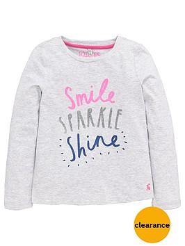 joules-girls-long-sleeve-sparklenbspslogan-t-shirt