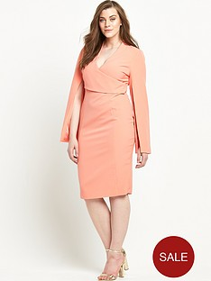 lavish-alice-curve-wrap-detail-split-sleeve-midi-dress