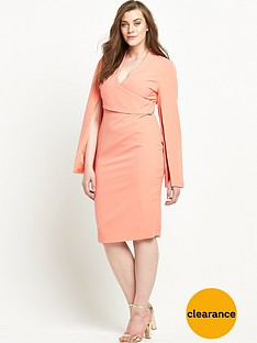 lavish-alice-curve-wrap-detail-split-sleeve-midi-dress