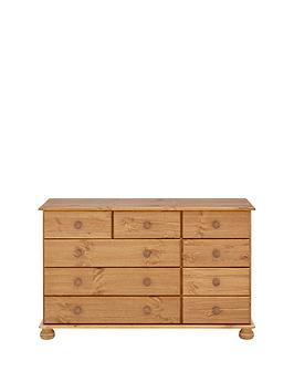 richmond-solid-pine-9-drawer-chest