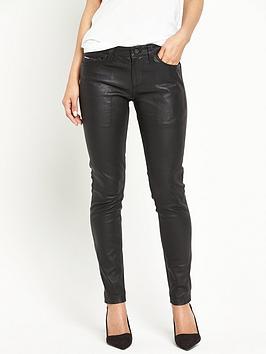 hilfiger-denim-skinny-leather-ankle-78-trouser-black