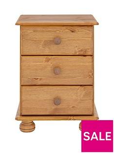 Richmond 3 Drawer Bedside Cabinet