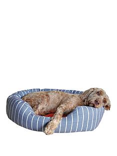 rosewood-40-winks-bedding-grey-stripetangerine-oval-bed-32-inch