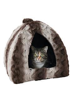 rosewood-grey-amp-cream-snuggle-plush-pyramid-bed-16-inch