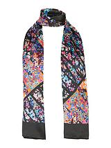 Abstract Floral Print Scarf