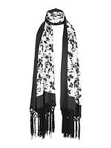 Conversational Butterfly Print Scarf