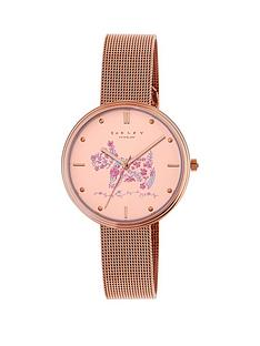 radley-radley-floral-dog-dial-rose-coloured-mesh-bracelet-ladies-watch
