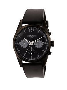 kahuna-kahuna-black-dial-chronograph-black-strap-mens-watch