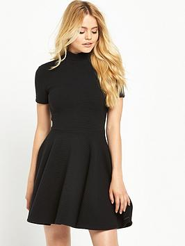 superdry-erin-collar-band-dress-black