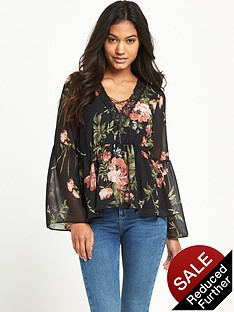 lipsy-lipsy-loves-michelle-keegan-cross-front-print-blouse