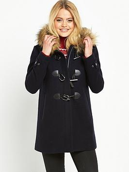 Superdry Brooklyn Duffle Coat - Midnight | very.co.uk