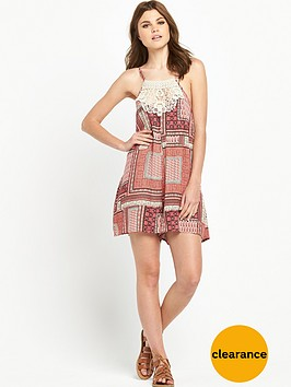 v-by-very-printed-crochet-neck-playsuit