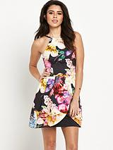 Tier Floral Prom Dress