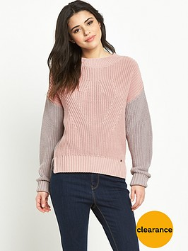 superdry-colour-block-rib-knit-jumper-dusty-pinkgrey