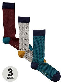 ted-baker-3pk-textured-sock
