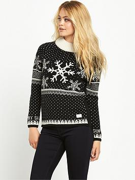 superdry-nordic-ski-snowflake-jumper-blackcream