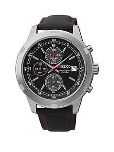 seiko-seiko-quartz-black-dial-red-highligh-chronograph-leather-strap-mens-watch