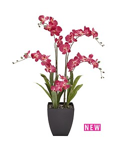 5-stem-3ft-artificial-orchid-in-pot-pink