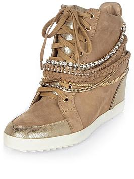 river-island-hidden-wedge-hi-top-trainer-with-chain-details