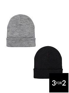 v-by-very-mensnbspbeanies-2-pack