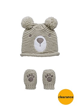mini-v-by-very-baby-boys-knitted-bear-hat-and-mittens-set-2-piece