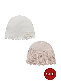 mini-v-by-very-baby-girls-knitted-hat-set-2-pack