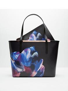 ted-baker-cosmic-bloom-leather-shopper-with-clutch