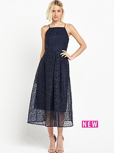 warehouse-shoestring-lace-dress-navy