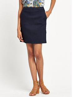 warehouse-a-line-skirt-indigo