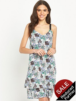 warehouse-80s-tile-double-layer-dress
