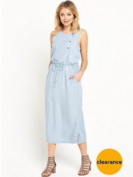 warehouse-asymmetric-waisted-dress
