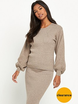 warehouse-ribbed-jumper-co-ord-neutral