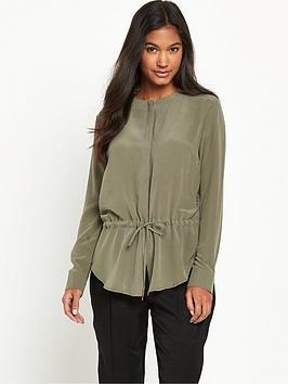 warehouse-silk-drawstring-blouse