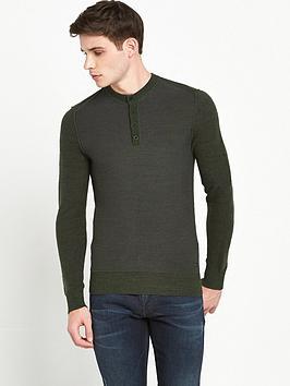 boss-orange-knitted-henley-top-green