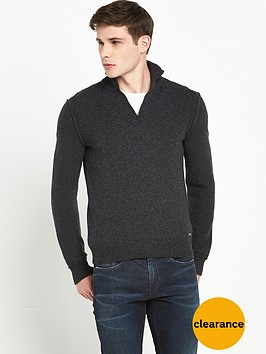 boss-orange-knitted-zip-neck-jumper-dark-grey
