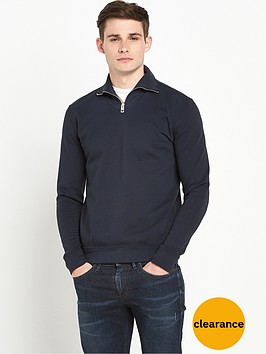 boss-orange-zip-neck-sweat-navy