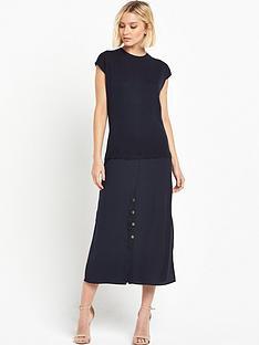 warehouse-woven-mix-hybrid-shirt-dress