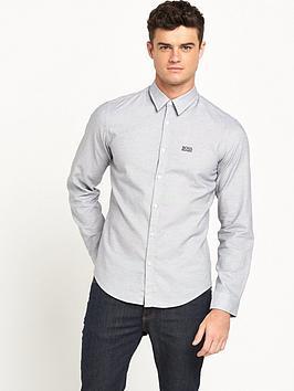 boss-green-small-logo-long-sleeve-mens-shirt-ndash-nightwatch