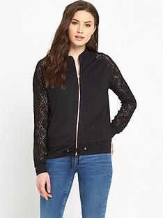 v-by-very-lace-sleeve-jersey-bomber-jacket