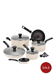 tefal-excite-7-piece-aluminium-pan-set-in-cream