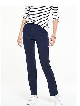 v-by-very-stitch-waistband-detail-slim-leg-trouser-navy
