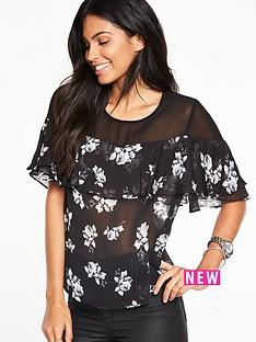 v-by-very-mesh-yoke-floral-ruffle-blouse