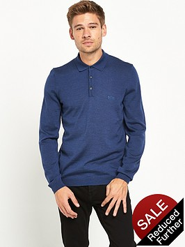 boss-green-long-sleeve-knitted-polo