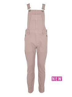 river-island-girls-pink-denim-dungarees