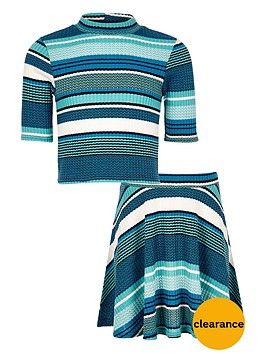 river-island-girls-stripe-top-and-skirt-co-ordnbspoutfit