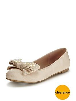 mini-miss-kg-girls-glimmer-bownbspballerinanbspshoes