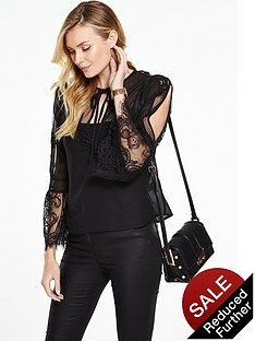 rochelle-humes-lace-panel-split-sleeve-blouse-black