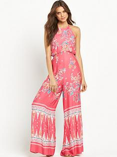 mink-pink-dreamstatenbspprinted-halter-neck-beach-jumpsuit