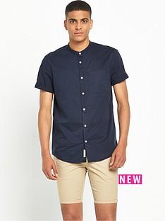 river-island-grandad-collar-short-sleeve-shirt