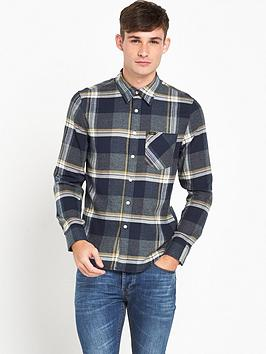 lee-checked-shirt-storm-grey
